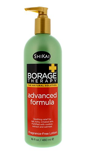 Body Lotion Formula Of - ShiKai - Borage Therapy Advanced Formula Lotion Dry Skin Lotion, Soothing & Moisturizing Relief For Dry, Irritated & Itchy Skin, Non-Greasy, Sensitive Skin Friendly (Fragrance-Free, 16 Ounces)