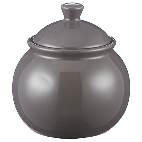 Mason Cash Classic Kitchen Sugar Bowl  Durable Stoneware Canister With Lid  12 Fluid Ounces  Dishwasher Safe  Dark Gray