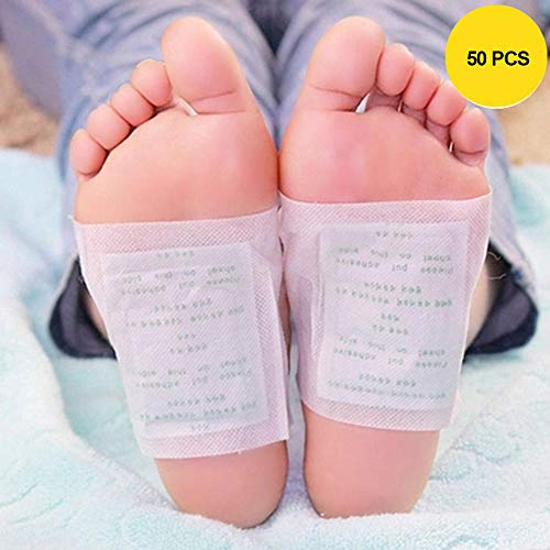 Foot Pads – FDA Natural Foot Care, Relieve Stress & Sleep Better, 50 Adhesive Sheets and 50 Foot Pads