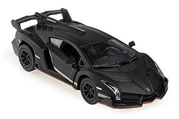 Amazon Com Lamborghini Veneno 1 36 Matt Black Toys Games