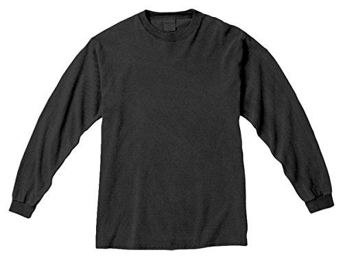 Komfort Färger Mens Ringspun Plagg-färgade Lång-muff T-skjorta (c6014) Peppar