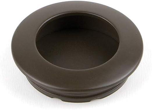 EMUCA - Tirador Empotrado Circular Ø41mm para Muebles, Tirador uñero para cajones y armarios, Color Moka: Amazon.es: Bricolaje y herramientas