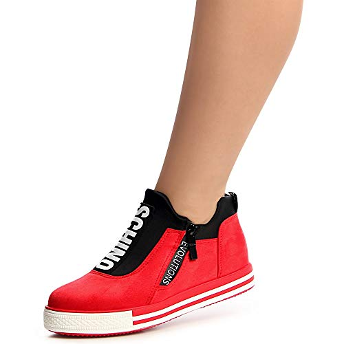 Rouge Rouge Topschuhe24 Femmes Topschuhe24 Chaussures Chaussures Mocassins Mocassins Femmes U8q4dwxz1U