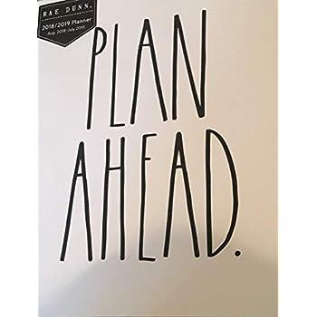 Amazon com : Rae Dunn - Plan Ahead - 2019 Monthly Planner