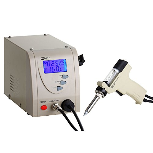Anesty Pro Digital Desoldering Station ZD-915 Iron Gun 480℃ 110V US Plug, Professional Removal Rework Station Built-in Vacuum Pump (Desoldering Tool)