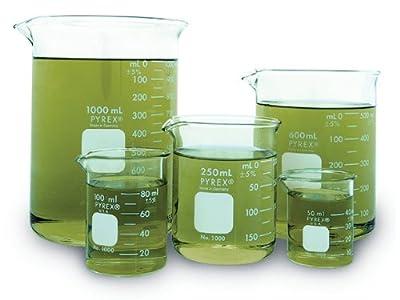 Corning Pyrex Griffin Low Form Corning Beaker Set (Set of 5)