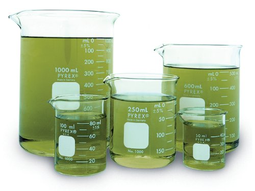 - Corning Pyrex Griffin Low Form Corning Beaker Set (Set of 5)