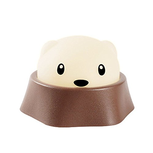 Efanr LED Night Light Cartoon Hamster Pat Switch USB Rechargeable Funny Lights Muti-function Child Bedside Baby Feeding Light Portable Children Nightlamp (Male hamster)