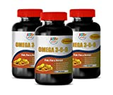Anti inflammatory multivitamin - Omega 3 6 9 Premium (Fish Flax Borage) - Flaxseed Oil with Omega 3 6 9-3 Bottles 360 Softgels