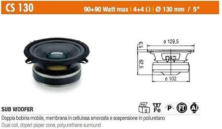 Ciare CS130  Subwoofer  MAX 90 Watt RMS 30 Watt