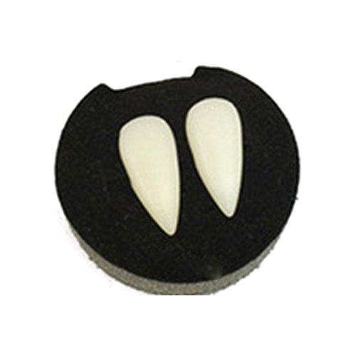 GEZICHTA Vampire Teeth, Vampire Makeup Kit Fangs Halloween Role Playing VampireTeeth for Halloween Dracula Fancy Dress(17mm)