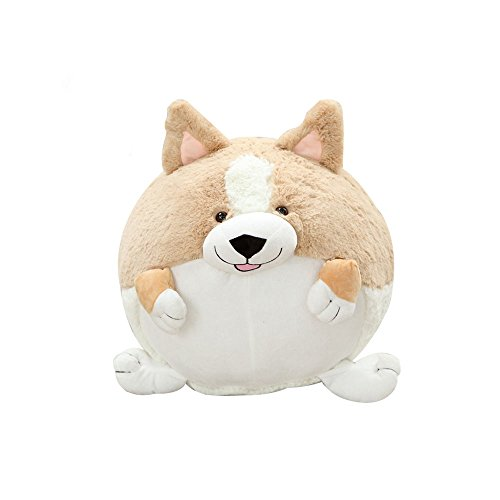 NEW 1x Cute Stuffed Cartoon Animals Round CORGI Dog Plush Doll Toy Children's - Sunglass Club Buyers