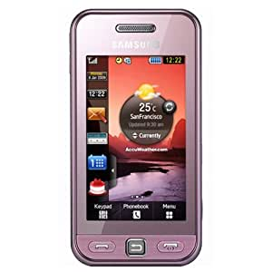 Samsung S5230 Tocco Lite GSM Quad-Band Phone with 3 MP Camera, MP3, Video Player, Bluetooth and MicroSD Slot - Unlocked Phone - US Warranty - Light Pink
