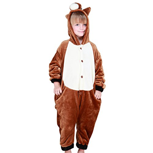 Newborn Horse Costume (MICHLEY Winter Animal Cosplay Costume Pajamas Flannel Romper For Boy Family Matching Clothes Adult-M)