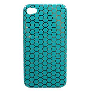 ZCL Stylish Nest Pattern Hard Case for iPhone4 (Blue)