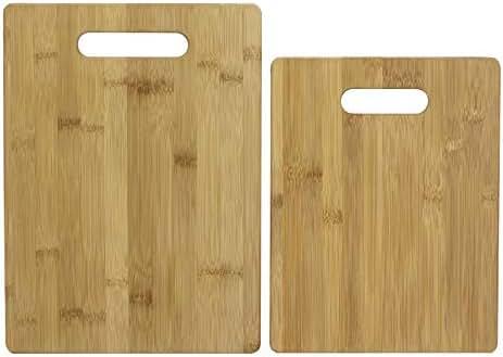 Totally Bamboo 20-2038 2-Piece Bamboo Cutting Board Set, Brown