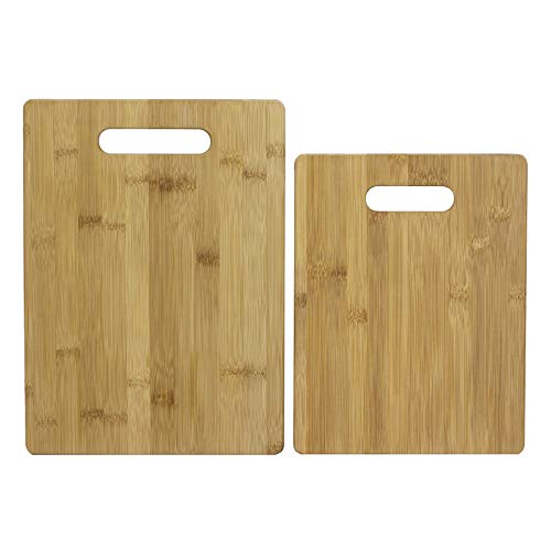 - Totally Bamboo 2 Piece Cutting Board Set, 100% Bamboo For Food Prep, Making Cocktails or Serving Appetizers