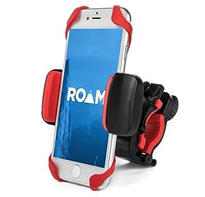 "Roam Universal Premium Bike Phone Mount Holder for Motorcycle / Bike Handlebars, Adjustable, Fits iPhone 6s / 6s Plus, iPhone 7 / 7 Plus, Galaxy S7, Holds Phones Up To 3.5"" Wide,"