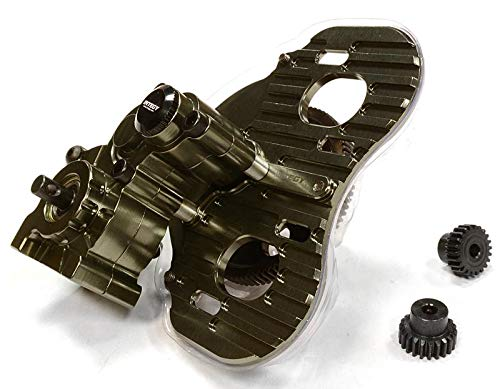 - Integy RC Model Hop-ups C26028GUN Billet Machined Twin Motor Type Complete Center Gearbox for Axial 1/10 SCX-10