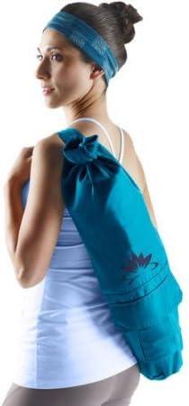 Lotus Yoga Mat Bag in Blue-Green