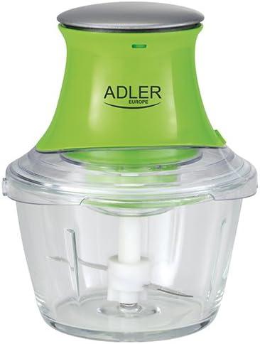 Adler AD 4056 Mini picadora, 300 W, 1 Liter, 0 Decibelios, Verde: Amazon.es: Hogar