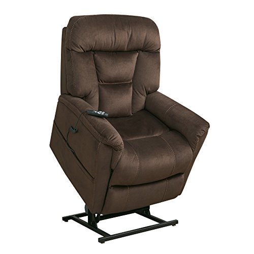 Pulaski DS-A278-016-349 Dark Brown Dual Motor Fabric Lift Chair