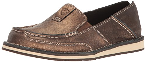 Ariat Women's Cruiser Slip-on Shoe, Metallic/Bronze, 5.5 B US ()