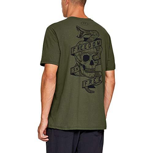 Under Armour Freedom Isn't Free T-Shirt, Marine OD Green//Black, - Marines Free T-shirt