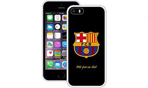FC Barcelona | Handgefertigt | iPhone 5 5s SE | Weiß TPU Hülle