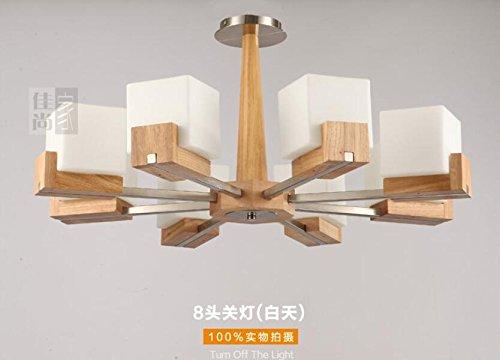 BLYC  Moderne Minimalistische Schlafzimmer Lampe Kreative  Deckenleuchte  Licht Nordic Holzkunst Einfach Kreative Eiche Decke Lampe Pendelleuchte , 8  Head ...