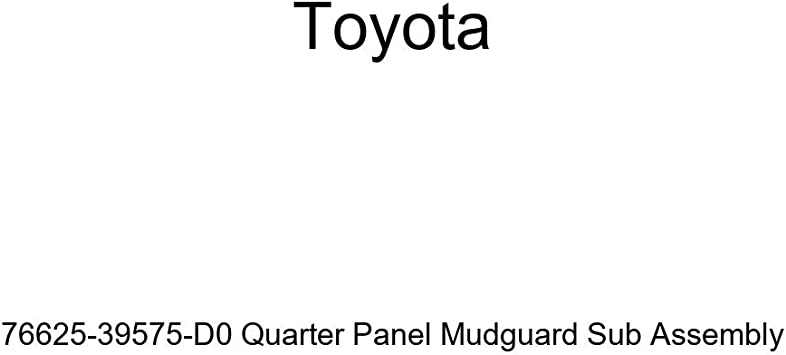 TOYOTA Genuine 76625-39575-D0 Quarter Panel Mudguard Sub Assembly