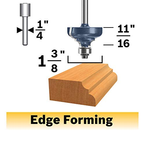 Bosch 85604MC 1-3/8 In. x 11/16 In. Carbide-Tipped Cove and Bead Router Bit