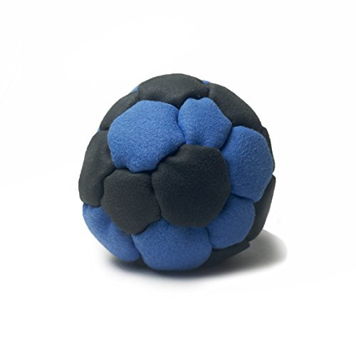 Sidekicks Hacky Sack - Classic Sand Filled Footbag | Best for Dirtbag Practice, Juggling Practice Hand Stitched Synthetic Suede Sand Hacky Sack Dirt Bag (Blue (32 panel)) by Sidekicks Sports
