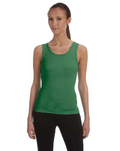 Bella Ladies' 5.8 oz Cotton Rib Tank Top in Leaf - Large