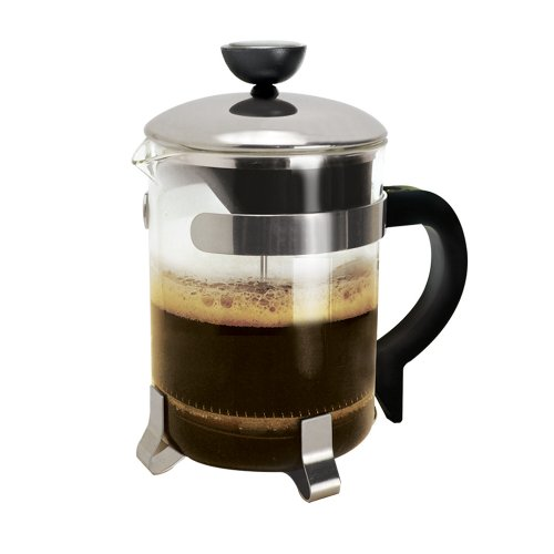 Primula 4-Cup Classic Coffee Press - Borosilicate Glass and Stainless Steel Filter - Dishwasher Safe - 16 oz. - Black and Chrome