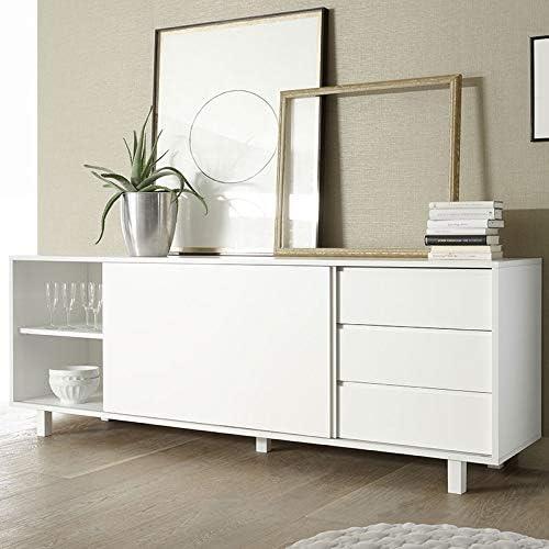M-012 aparador Puerta corredera Design Blanco Lacado Palazio ...