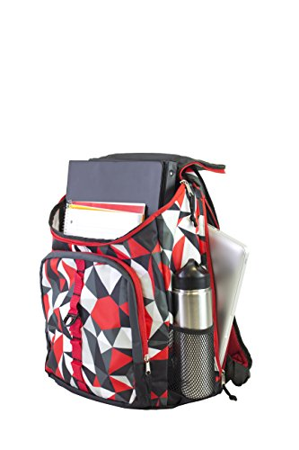 Fuel Top Load Sport Backpack with Side Tech Compartment and Ergonomic Padded Mesh Breathable Back