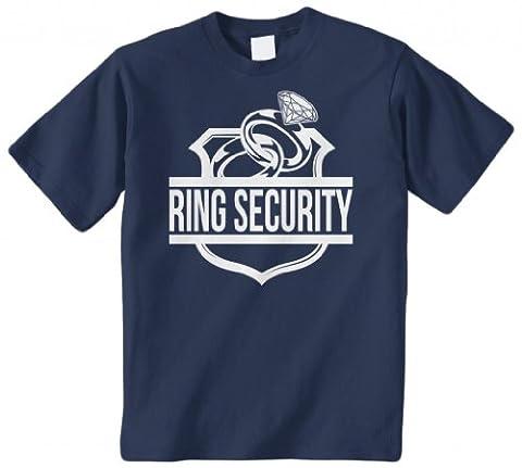 Threadrock Big Boys' Ring Security (Ring Bearer) Youth T-Shirt L Navy