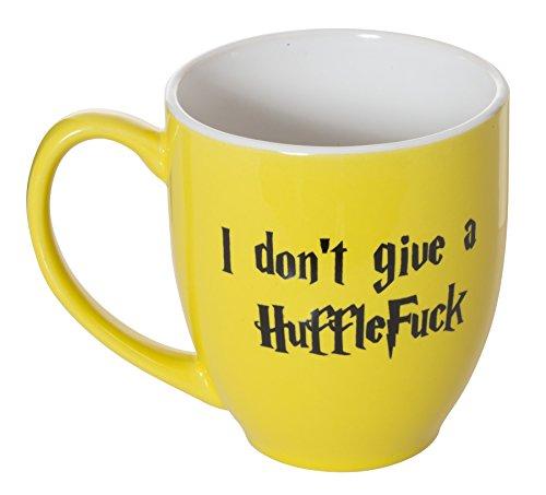 I Don't Give A HuffleFuck - 15oz Bistro Deluxe Double-Sided Coffee Tea Mug (HuffleFuck) by Artisan Owl (Image #3)