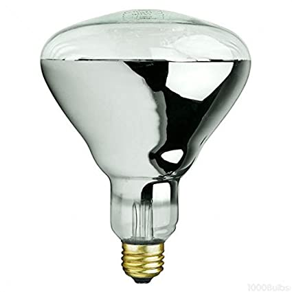 ff367b837196 250 Watt - BR40 - IR Heat Lamp - Clear - 5000 Life Hours - 120 Volt - PLT  250R40 1 - Incandescent Bulbs - Amazon.com