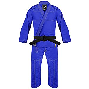 War Tribe MEN's Brazilian Jiu Jitsu Gi - HYDROGEN Ultra-light Gi (Blue, A0)