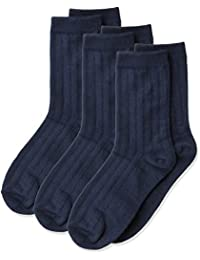 Jefferies Socks Little Boys' Ribbed Crew Sock Three-Pack