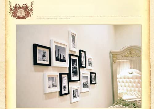 ALLWOODFRAMES 11 Opening Photo Picture Wood Frames Home Wall Decoration with Hanging Template and Installation Accessories