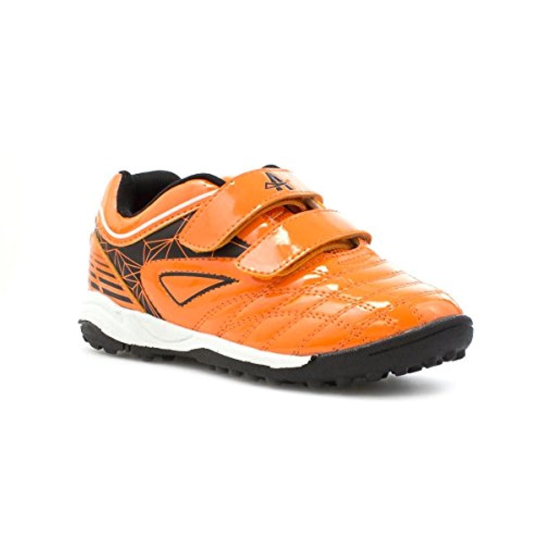 Ascot Kids Orange Double Velcro Astroturf Trainer - Size 1 - Orange