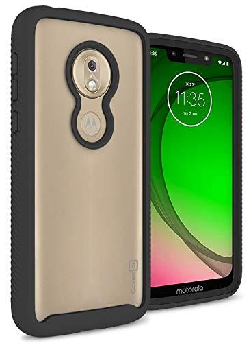- CoverON Heavy Duty Full Body EOS Series for Motorola Moto G7 Play Case (2019), Clear Back Black Trim