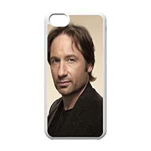 Caso del iPhone 5C Teléfono Funda Blanca David Duchovny Hank Californication H8C6LK personalizada funda protectora Funda