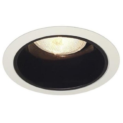 Juno Lighting Group 27B-WH 211 PW Light White Trim with Black Alzak ()