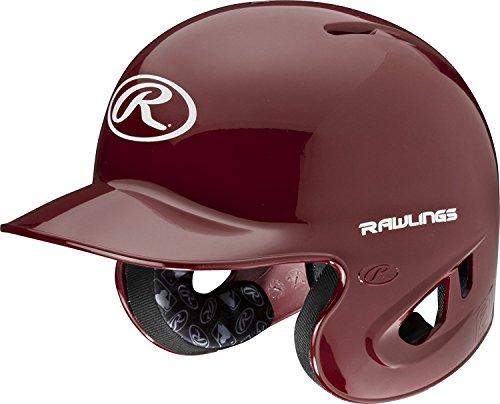 Rawlings 90 MPH College/High School Batting Helmet, Cardinal, (Cardinal Batting Helmet)