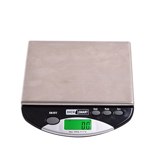 Low Profile Bench Scale - Coffee Gear CGPORT2KG BrewSmart (Portafilter) Bench Scale, One Size, Silver
