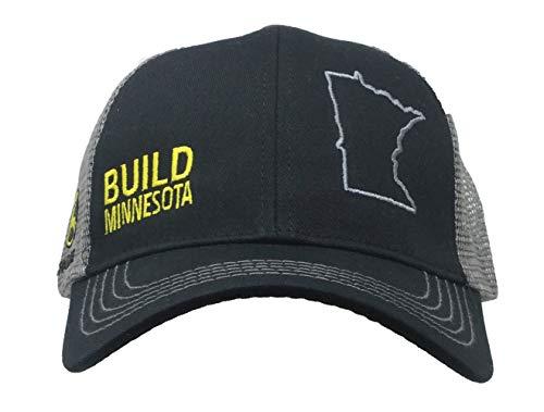 John Deere Build State Pride Cap-Black and Gray-Minnesota
